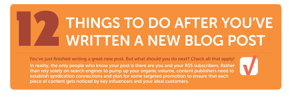 12 Things to do after publishing a New Blog Post {Infographic}